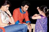 When Genelia visited husband Riteish on the sets
