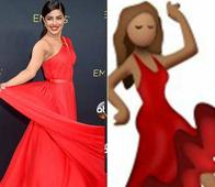 Meanwhile, The Whatsapp Emoji of Dancing Woman In Red is No One Else But Priyanka Chopra At The Emmy's!