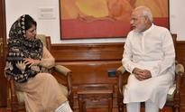 As Kashmir unrest continues, Mehbooba Mufti meets PM Modi