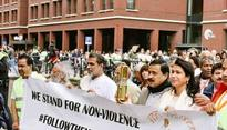 Netherlands: Over 800 people participate in Gandhi March to mark International Day of Non-Violence