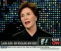 Laura Bush supports Afghan women, drops hints she might vote for Hillary Clinton