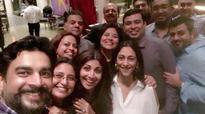 Shilpa Shetty hosts a dinner party for friends