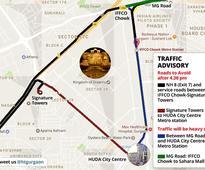 Gurgaon traffic advisory: Avoid roads leading to Kingdom of Dreams on Jan 11