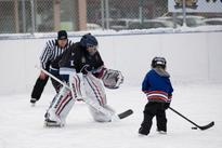 Edmonton police, youth face off during friendly annual hockey game
