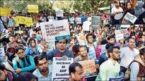 Left students hit the streets again to protest against ABVP