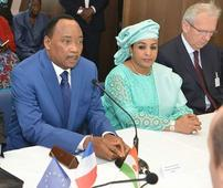 Photonews: Nigerien President Muhammadu Issoufou and wife, Dr Malika Issoufou at a Recent Function in Niamey