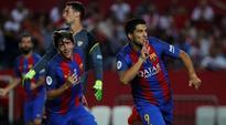 Luis Suarez, Munir El Haddadi strikes give Barcelona Super Cup advantage
