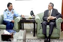 Air Marshal Arshad Malik calls on Finance Minister