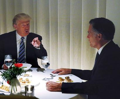 Romney once called Trump 'phony', now he dines with him