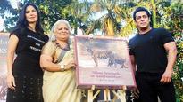 Salman Khan, Katrina unveil Bina Kak's book on tigers