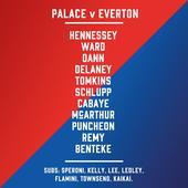 Starting line-ups: Crystal Palace v Everton