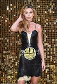 Abbey Clancy commits fashion fail in hideous print dress at Ab Fab premiere