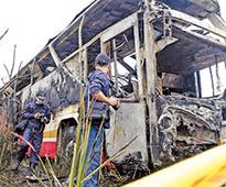 Taiwan probes death by fire on bus