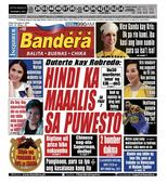 INQUIRER BANDERA LUZON DECEMBER 9, 2016