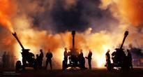British Army Shooting Blanks Following Artillery Recall