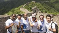 Mike Tyson climbs the Great Wall of China for an IBF title fight weigh-in