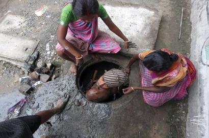 Manual scavenging -- a national shame