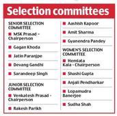 BCCI get new bunch of selectors