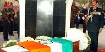 Paying homage at the mortal remains of Lance Naik Hanamanthappa Koppad