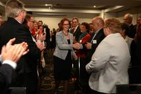 Gillard arrives to standing ovation