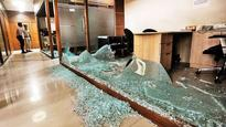 Congress party office attacked by MNS