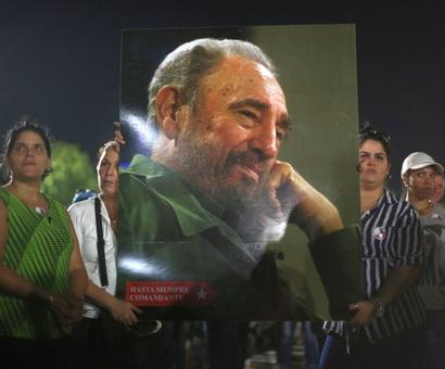 'Long live the revolution': Cubans hold mass rally, remember Fidel Castro