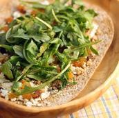 Easy Goat Cheese and Raisin Flatbread Pizza recipe