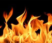 Vehicles set on fire in Kannagi Nagar police station