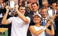 Murray-Hingis duo win mixed doubles title