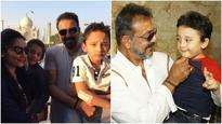 Sanjay Dutt bonds with son Shahraan over football!