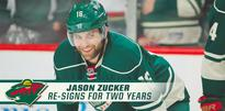 Wild Re-Signs Jason Zucker To Two-Year Contract