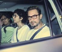 Aamir Khan and wife Kiran Rao spotted leaving from a screening in the city