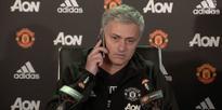 Jose Mourinho answered a reporter's cellphone...