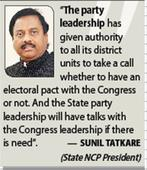 NCP, Cong likely to join hands
