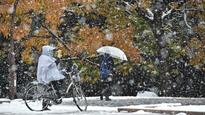 Tokyo hit by November snow for first time in 54 years