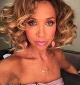 Myleene Klass rocks colourful '80s make-up and a throwback perm for Keith Lemon's star-studded fancy dress birthday bash