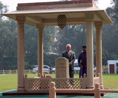 'Such a simple man': Tillerson visits Gandhi memorial