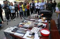 Weapons, bomb materials seized from feuding universities