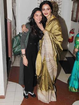 PIX: Rekha, Aditi Rao Hydari party with Javed Akhtar