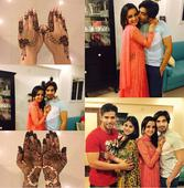 Sanaya and hubby Mohit celebrate their first Karwa Chauth in style!