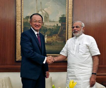 World Bank President Jim Yong Kim in India today