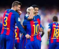 La Liga: Luis Suarez hat-trick helps Barcelona sink Real Betis; Sevilla beat Espanyol in thriller