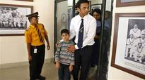 Dravid's son hits ton for school team
