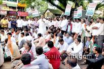 Udupi: Kaup Congress protests union government's 'anti-people' policies