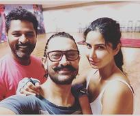 Katrina, Aamir rehearse with Prabhudeva for `Thugs of Hindostan`!