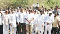 Ministers Walk Away as Villagers Raise Tank Encroachment Issue