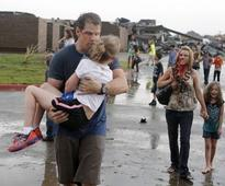 'I held on for dear life': battered mother from iconic photo relives Okla. terror