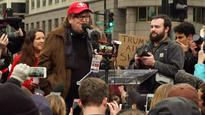 Michael Moore tried to crash Trump's parade Read Full Article