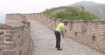 The most interesting golfer in the world hit a ball off the Great Wall of China