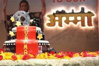 Shabana Azmi's birthday celebrations on the sets of Amma